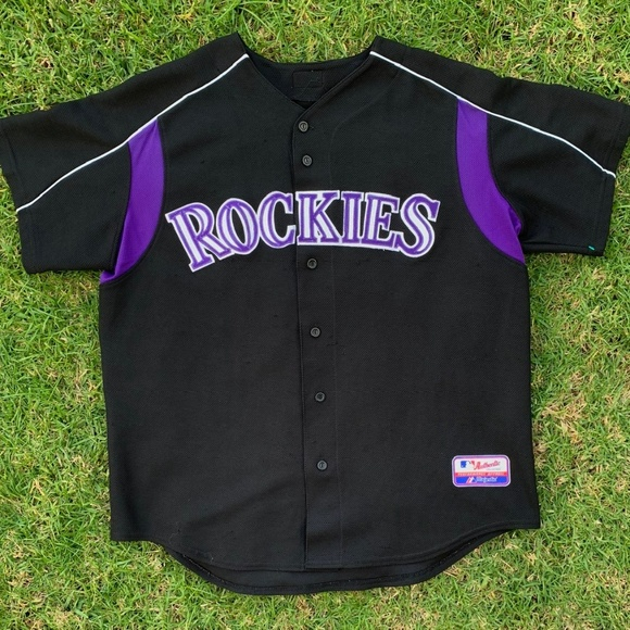 buy online 6392c 55cb0 VINTAGE MLB COLORADO ROCKIES BASEBALL JERSEY L/XL